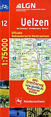 LGN Radwanderkarte Niedersachsen: Bl.12 Uelzen