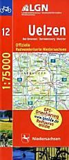 LGN Radwanderkarte Niedersachsen - Uelzen