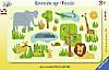 Lustige Afrikatiere. 15 Teile Rahmenpuzzle