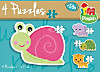 Lustige Tiere (Kinderpuzzle) 4 in 1