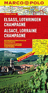 Marco Polo Karte Elsass, Lothringen, Champagne; Alsace, Lorraine, Champagne