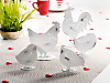 Metallfiguren Familie Huhn, 5er-Set
