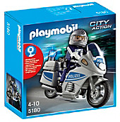 PLAYMOBIL® 5180 City Action - Polizeimotorrad mit Blinklicht