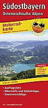 PublicPress Motorradkarte Südostbayern, Österreichische Alpen