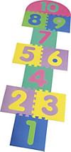 Puzzlematte Hüpfspiel 14-teilig bunt