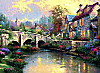 Schmidt Puzzle - Thomas Kinkade Bei der alten Brücke, 1000 Teile