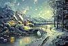 Schmidt Puzzle - Thomas Kinkade Winterliches Mondlicht, 500 Teile
