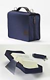 SchönfelderSkin blau, Buchhüllen-Tasche m. Buchstütze