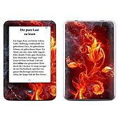 Skin für eBook Reader tolino shine (Farbe: flower of fire)
