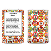 Skin für eBook Reader tolino shine (Farbe: Owls Family)