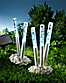 Solar-Gartenstecker Bubbles, 5er-Set