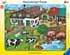 Tierfamilien. Puzzle mit 33 Teilen