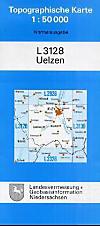 Topographische Karten NiedersachsenBl.3128 Uelzen