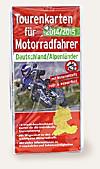 Tourenkarten für Motorradfahrer Deutschland, Alpenländer 2014/2015, 16 Blätter