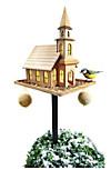 """Vogelhaus """"Kirche"""" mit Solar"""
